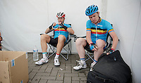 Stijn Devolder (BEL) & Nick Nuyens (BEL) together in a national (selection) team<br /> <br /> Halle - Ingooigem 2013<br /> 197km