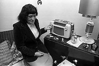 Pix: Barry Wilkinson/SWpix.com. The Yorkshire Ripper Archive. 14th May 1979 - 11th May1980...COPYRIGHT PICTURE>>SIMON WILKINSON>>0870 092 0092>>..Ripper victim Maureen Long listens to the Ripper broadcast.