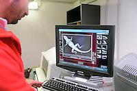- Acquario di Genova, laboratorio di veterinaria, radiografia di una lucertola<br /> <br /> - The Aquarium of Genoa (Italy), biology lab, x-ray of a lizard