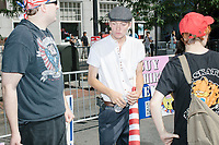Participants wait for the start of the Straight Pride Parade in Boston, Massachusetts, on Sat., August 31, 2019.