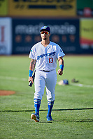 Jacob Amaya (13) of the Ogden Raptors before the game against the Grand Junction Rockies at Lindquist Field on June 25, 2018 in Ogden, Utah. The Raptors defeated the Rockies 5-3. (Stephen Smith/Four Seam Images)