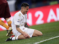 Calcio, Serie A: Roma vs Milan. Roma, stadio Olimpico, 12 dicembre 2016.<br /> Milan's Gianluca Lapadula reacts during the Italian Serie A football match between Roma and AC Milan at Rome's Olympic stadium, 12 December 2016.<br /> UPDATE IMAGES PRESS/Isabella Bonotto