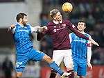 Hearts v St Johnstone…03.02.18…  Tynecastle…  SPFL<br />Kyle Lafferty and Richie Foster<br />Picture by Graeme Hart. <br />Copyright Perthshire Picture Agency<br />Tel: 01738 623350  Mobile: 07990 594431