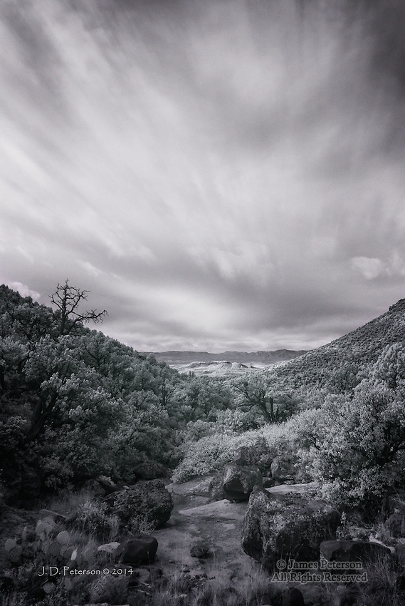 Contemplation: Mingus Mountain from Wood's Canyon, Arizona (Infrared)