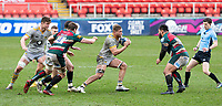 20th February 2021; Welford Road Stadium, Leicester, Midlands, England; Premiership Rugby, Leicester Tigers versus Wasps; Brad Shields of Wasps breaks forward with the ball