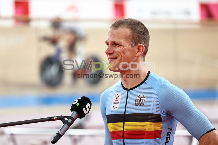 Picture by Alex Whitehead/SWpix.com - Tokyo 2020 Paralympics - 24/08/2021 - Track Cycling - Izu Velodrome, Izu, Japan - Ewoud Vromant of Belgium during practice.