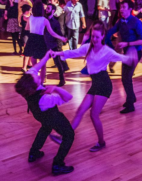 Swing Dance at University of Colorado, April 2015, Boulder, Colorado.