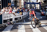 Damiano Caruso (ITA/Bahrain - Victorious)<br /> <br /> 104th Giro d'Italia 2021 (2.UWT)<br /> Stage 21 (final ITT) from Senago to Milan (30.3km)<br /> <br /> ©kramon
