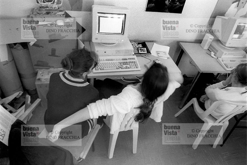 - jail for minors Beccaria, lesson of computer science in the feminine section<br /> <br /> - carcere minorile Beccaria, lezione di informatica nella sezione femminile