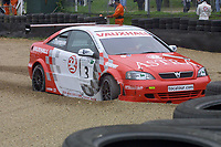 Round 9 of the 2002 British Touring Car Championship. #3 James Thompson (GBR). Vauxhall Motorsport. Vauxhall Astra Coupé.