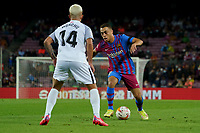 20th September 2021; Nou Camp, Barcelona, Spain; La Liga football league;  FC Barcelona versus Granada;   Dest of Barca takes on Monchu