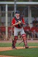 Canada Junior National Team catcher Russell Young (37) during an exhibition game against the Toronto Blue Jays on March 8, 2020 at Baseball City in St. Petersburg, Florida.  (Mike Janes/Four Seam Images)
