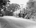 Road work at Dead Man's Curve in Naugatuck, July, 1936.