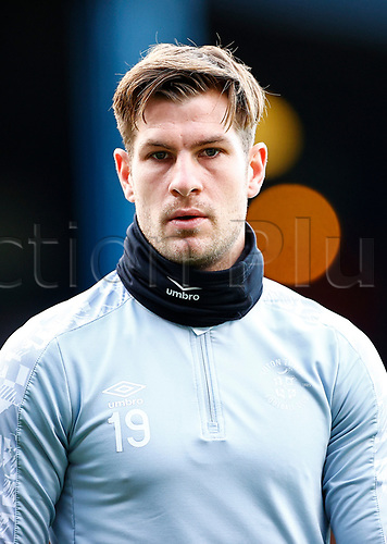21st November 2020; Kenilworth Road, Luton, Bedfordshire, England; English Football League Championship Football, Luton Town versus Blackburn Rovers; James Collins of Luton Town and this seasons leading goal scorer in warm up