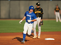 IMG Academy Ascenders Jack Thompson (6) rounds the bases after hitting a home run during a game against the Montverde Academy Eagles on April 8, 2021 at IMG Academy in Bradenton, Florida.  (Mike Janes/Four Seam Images)