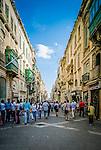 Street in the Old Town of Valletta, Malta