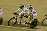 The Canadian team at cycling training at the Laoshan Velodrome prior to the Paralympic Games in Beijing, Sep., 3, 2008