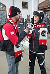 Benoit Huot and Caroline Bisson, Sochi 2014.<br /> Highlights from Canada's Athlete Welcome Ceremony // Faits saillants de la cérémonie d'accueil des athlètes canadiens. 05/03/2014.