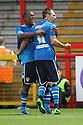 Luke Varney of Leeds celebrates scoring their first goal with Dominic Poleon of Leeds<br />  Stevenage v Leeds United - Pre-season friendly - Lamex Stadium, Stevenage - 23rd July, 2013<br />  © Kevin Coleman 2013