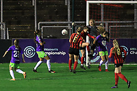 Laura Hartley of Lewes clears the ball during Lewes Women vs Bristol City Women, FA Women's Continental League Cup Football at The Dripping Pan on 18th November 2020