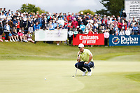 4th July 2021; Mount Juliet Golf Club, Kilkenny, Ireland; Dubai Duty Free Irish Open Golf, Day Four; Rory Mcilroy of Northern Ireland lines up his putt on the 18th green