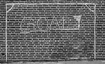 A football (soccer)goal chalk outline in Maasluis, the Netherlands