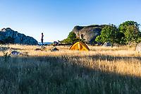 Wild camping, West Sweden