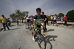 Robbie McEwen (AUS) GreenEdge Cycling Team at sign on before the start of the 3rd Stage of the 2012 Tour of Qatar running 146.5km from Dukhan Souq, Dukhan to Al Gharafa, Qatar. 7th February 2012.<br /> (Photo Eoin Clarke/Newsfile)
