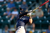 Tampa Tarpons Benjamin Cowles (28) hits a home run during Game Two of the Low-A Southeast Championship Series against the Bradenton Marauders on September 22, 2021 at LECOM Park in Bradenton, Florida.  (Mike Janes/Four Seam Images)