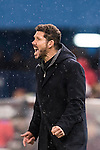 Coach Diego Simeone of Atletico de Madrid reacts during the La Liga match between Atletico de Madrid and RCD Espanyol at the Vicente Calderón Stadium on 03 November 2016 in Madrid, Spain. Photo by Diego Gonzalez Souto / Power Sport Images