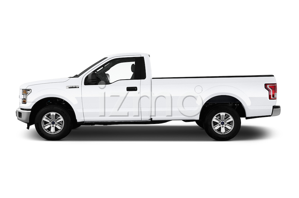 Car Driver side profile view of a 2016 Ford F 150 XL 2 Door Pickup Side View
