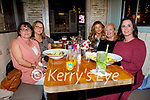 Enjoying the evening in Molly J's on Friday, l to r: Aine Fitzgerald (Listowel), Grace Egan (Ardfert), Katelyn and Mary Dowling (New Jersey/Ardfert) and Tanya Courtney (Tralee).