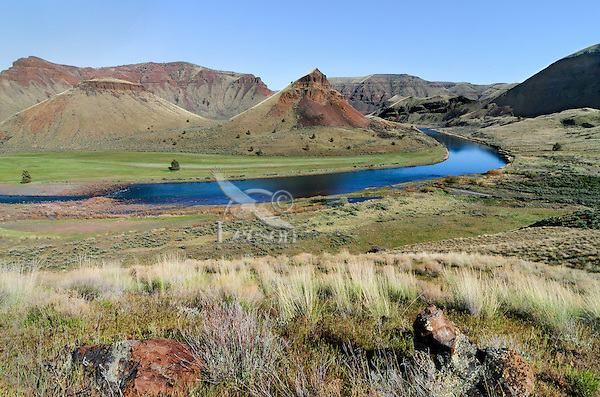 John Day River just upstream of confluence with 30 Mile Creek.  Oregon.