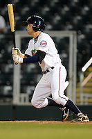 Fort Myers Miracle shortstop A.J. Pettersen #1 during a game against the Jupiter Hammerheads on April 9, 2013 at Hammond Stadium in Fort Myers, Florida.  Fort Myers defeated Jupiter 1-0.  (Mike Janes/Four Seam Images)