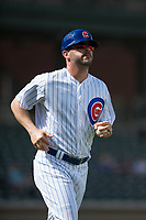 Mesa Solar Sox hitting coach Jesus Feliciano (22), of the Chicago Cubs organization, during an Arizona Fall League game against the Peoria Javelinas at Sloan Park on October 11, 2018 in Mesa, Arizona. Mesa defeated Peoria 10-9. (Zachary Lucy/Four Seam Images)