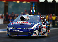 Jun 19, 2015; Bristol, TN, USA; NHRA pro stock driver Jason Line during qualifying for the Thunder Valley Nationals at Bristol Dragway. Mandatory Credit: Mark J. Rebilas-