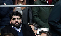 Italian cook Antonino Cannavacciulo sits on the stand for the Italian Serie A football match between Roma and Napoli at Rome's Olympic stadium, 4 March 2017. <br /> UPDATE IMAGES PRESS/Isabella Bonotto