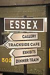 Essex, CT Steam Train excursion. Directive signage.
