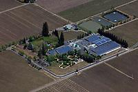 aerial photograph of Raymond Vineyards, St. Helena, Napa County, California