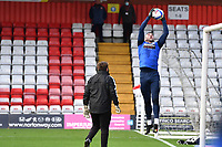 Matthew Gilks of Bolton Wanderers F.C. during Stevenage vs Bolton Wanderers, Sky Bet EFL League 2 Football at the Lamex Stadium on 21st November 2020