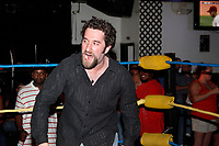 Pctured in the ring is guest referee Dustin Diamond at the Big Bang boxing match at the Pennant East in Bellmawr, New Jersey on July 29, 2010 Devon  James was not allowed to box because she did not pass the physical  ***EXCLUSIVE***  Credit: Scott Weiner/MediaPunch