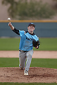 Austin Phillips (17) of Frenship HS High School in Lubbock, Texas during the Under Armour All-American Pre-Season Tournament presented by Baseball Factory on January 14, 2017 at Sloan Park in Mesa, Arizona.  (Kevin C. Cox/Mike Janes Photography)