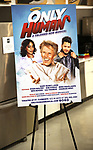 """Poster signage for """"Only Human - A #Blessed New Musical"""" Sneak Peek at The Yard Herald Square on September 17, 2019 in New York City."""