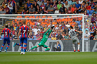 GOAL - Wayne Hennessey of Crystal Palace is beaten by Vedad Ibišević of Hertha Berlin during the pre season friendly match between Crystal Palace and Hertha BSC at Selhurst Park, London, England on 3 August 2019. Photo by Carlton Myrie / PRiME Media Images.