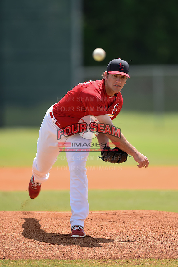 St. Louis Cardinals pitcher Will Anderson during a minor league spring training game against the New York Mets on April 1, 2015 at the Roger Dean Complex in Jupiter, Florida.  (Mike Janes/Four Seam Images)