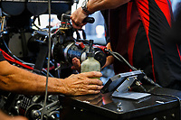 Jul 23, 2017; Morrison, CO, USA; NHRA funny car driver Jonnie Lindberg during the Mile High Nationals at Bandimere Speedway. Mandatory Credit: Mark J. Rebilas-USA TODAY Sports