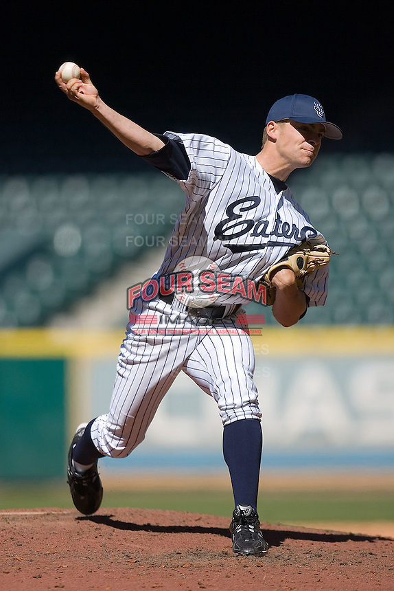 Relief pitcher Eric Pettis #55 of the UC-Irvine Anteaters in action versus the UCLA Bruins in the 2009 Houston College Classic at Minute Maid Park March 1, 2009 in Houston, TX.  The Anteaters defeated the Bruins 7-4. (Photo by Brian Westerholt / Four Seam Images)