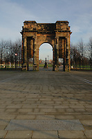 The Maclennan Archway at the entrance of Glasgow Green, Glasgow<br />
