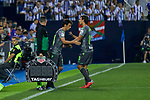 Real Sociedad's Raul Garcia (l) and Mikel Oyarzabal (r) during La Liga match. August 24, 2018. (ALTERPHOTOS/A. Perez Meca)