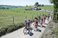 Jens Keukeleire (BEL/Orica Scott) leads the escape group up the Cote de Fraiture <br /> <br /> <br /> Baloise Belgium Tour 2017 (2.HC)<br /> Stage 4: Ans-Ans 167,8km